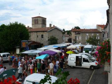 Marché de producteurs à Saint-Romain-Lachalm